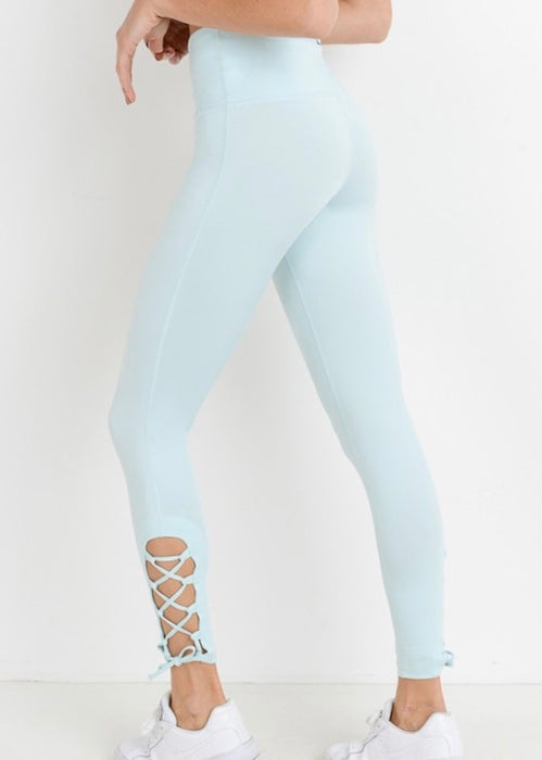 CRISS-CROSS RIBBON LEGGINGS