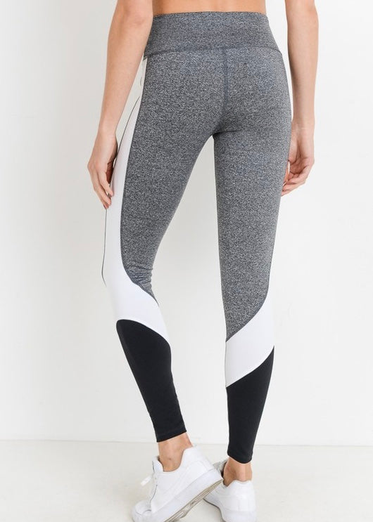 HIGH WAISTED COLOR BLOCK LEGGINGS