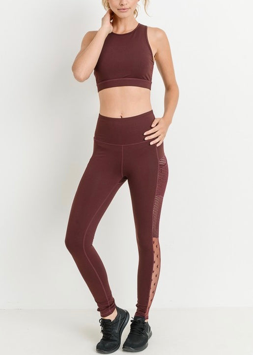 HIGH WAIST MESH STAR LEGGINGS