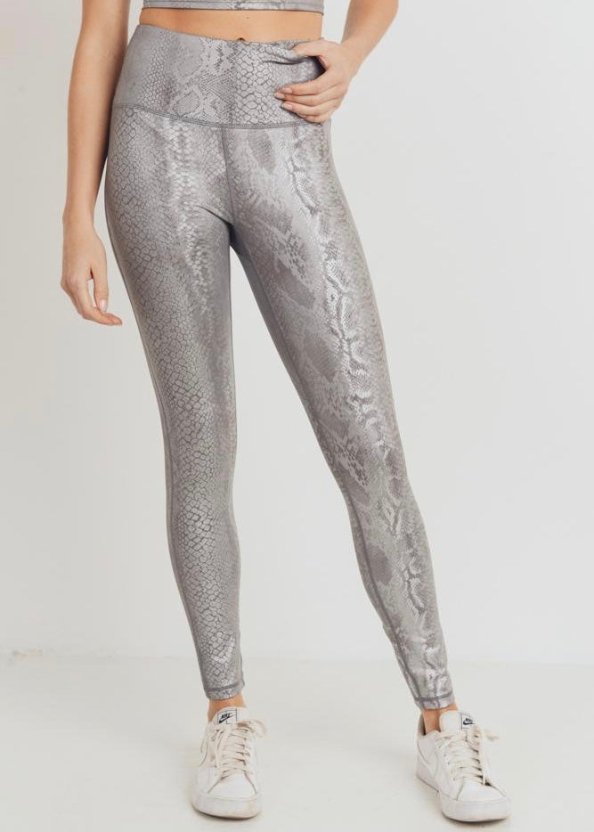 PARRIS SNAKE PRINT HIGH-WAISTED LEGGINGS