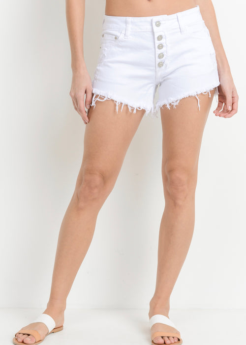 HIGH RISE BUTTONED SHORTS