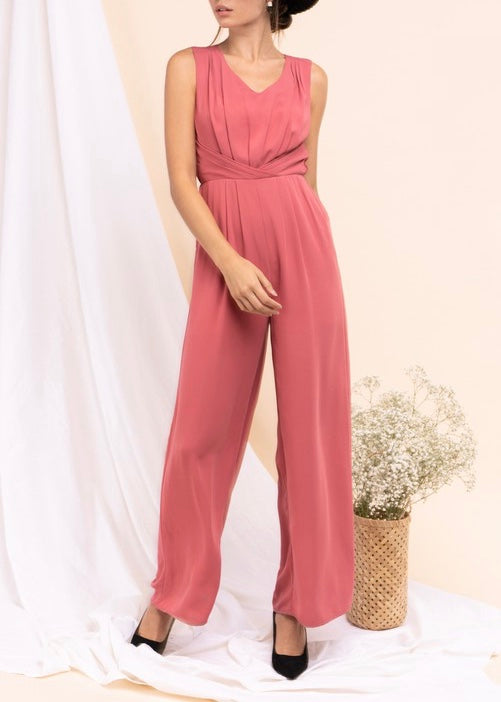 CHARLOTTE PLEATED JUMPSUIT