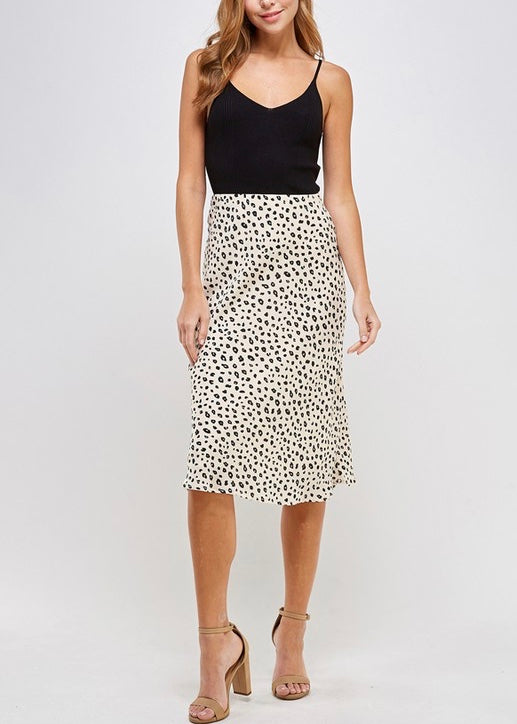 JOANNE ANIMAL PRINTED SKIRT