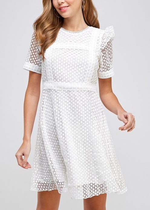 DAWN COTTON LACE DRESS