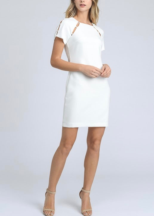 PEARL CUTOUT DRESS