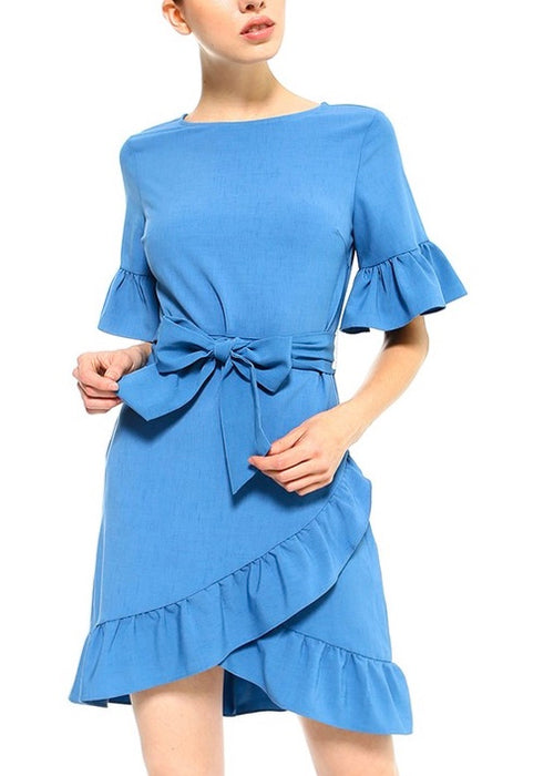 TULIP RUFFLE TIE DRESS