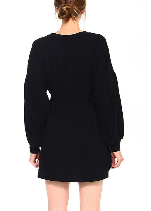 LONG SLEEVED EMPIRE FLARE DRESS