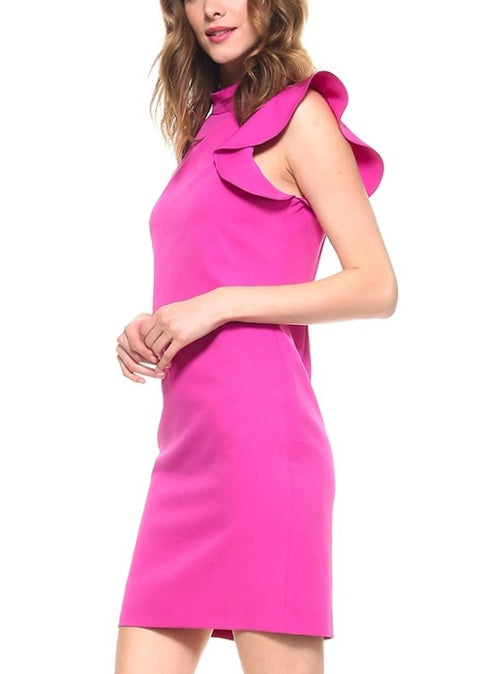 STATEMENT SHOULDER DRESS
