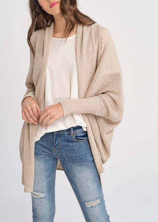 WEEKEND LINEN KNIT CARDIGAN