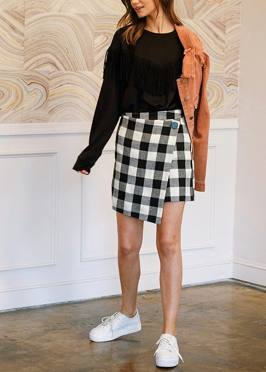 ALI CHECKERED MINI SKIRT