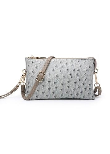 MINI FAUX OSTRICH CROSSBODY