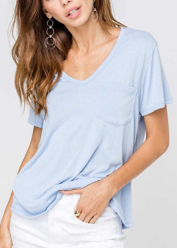 SHORT SLEEVED POCKET T-SHIRT