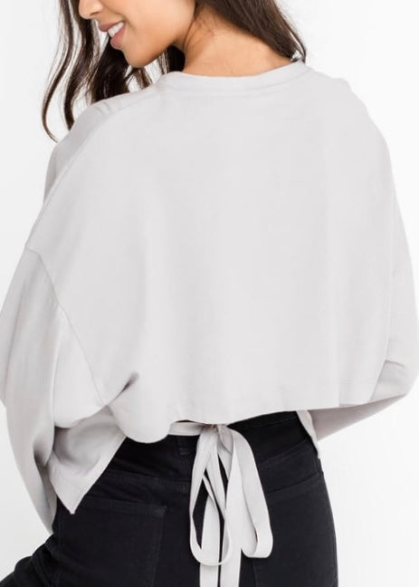 BELL SLEEVE CROPPED TOP