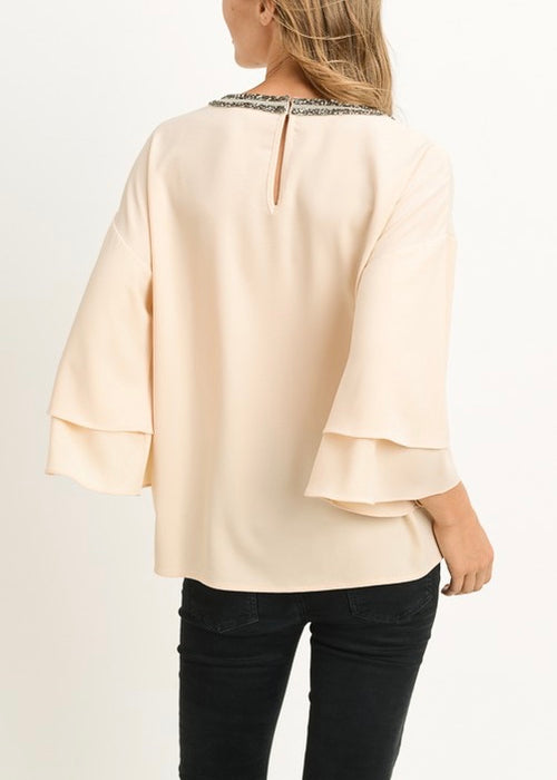 NIGHT OUT TIERED TOP