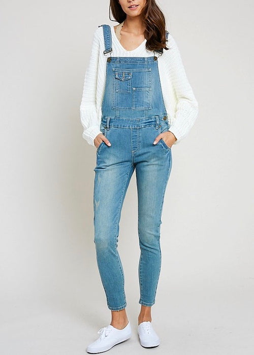 SIX POCKET DENIM OVERALLS