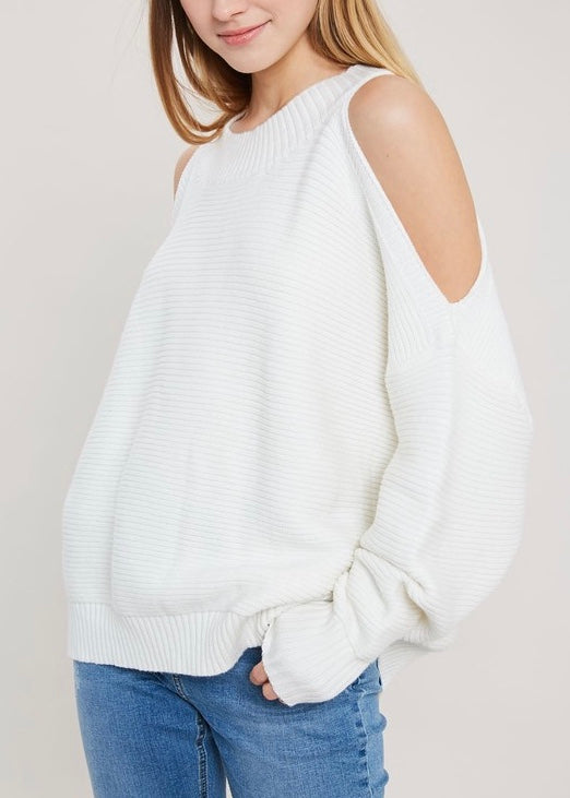 OPEN SHOULDER KNIT