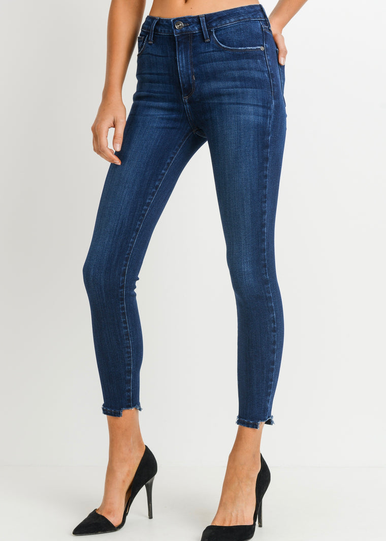 JENNI DARK WASHED DENIM JEANS