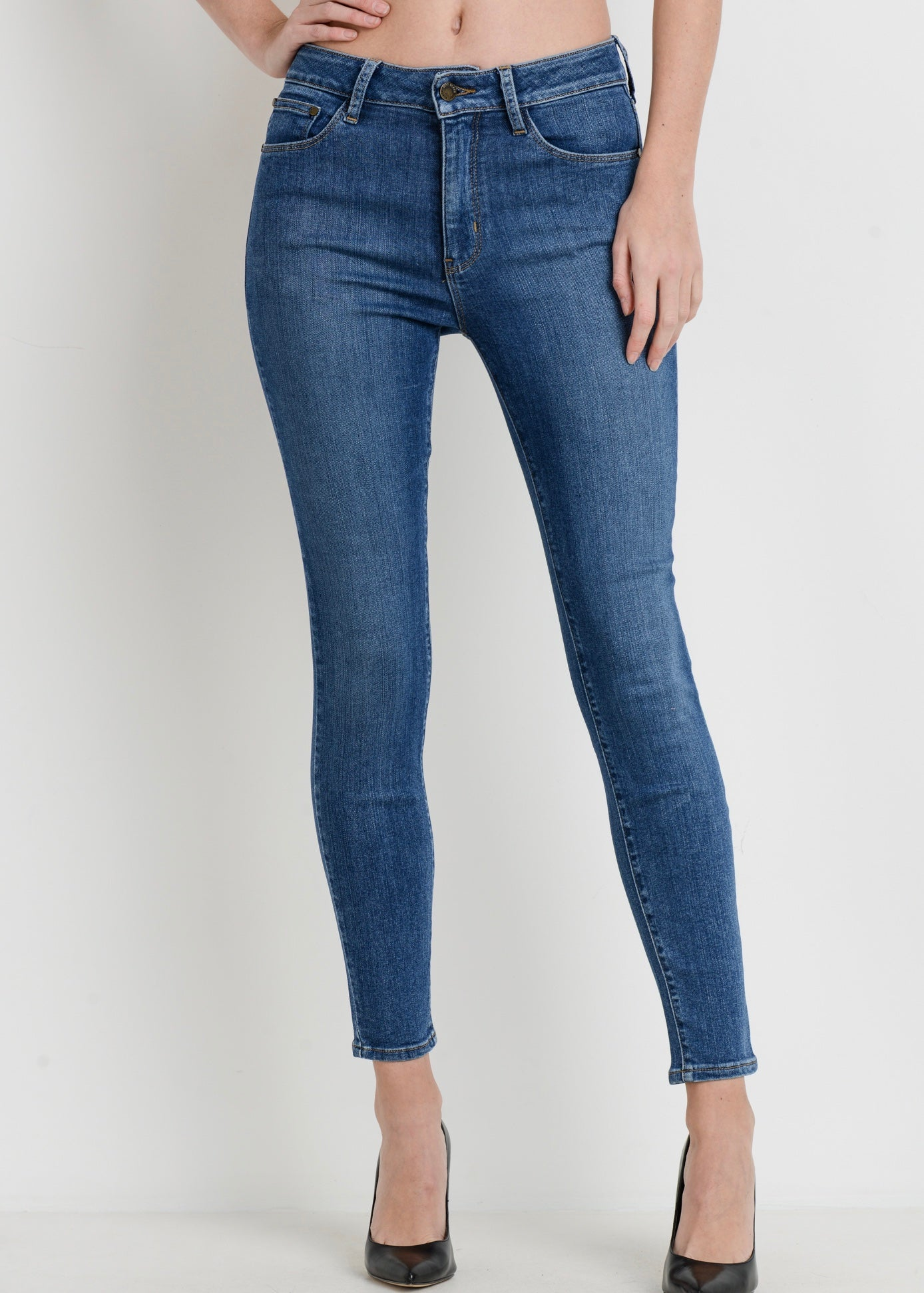 JUST BLACK BP175J HIGH RISE BASIC SKINNY JEAN