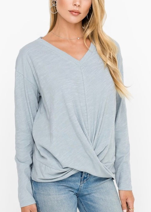 TIFFANY GATHERED  QUARRY SWEATER