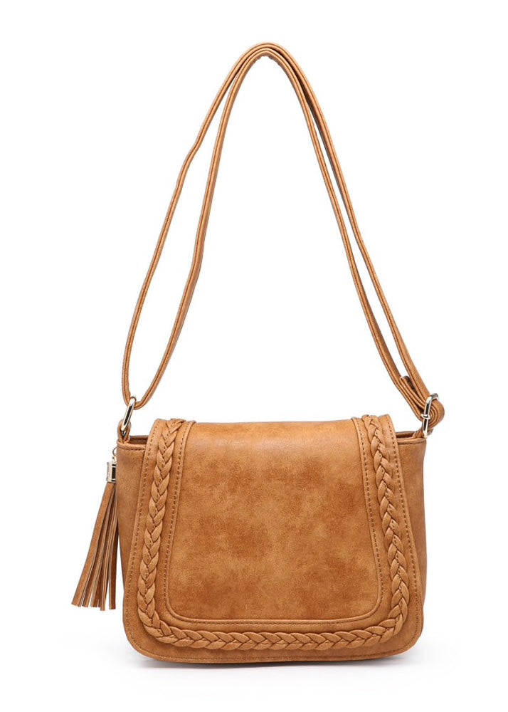 BRAIDED FRONT SADDLE BAG