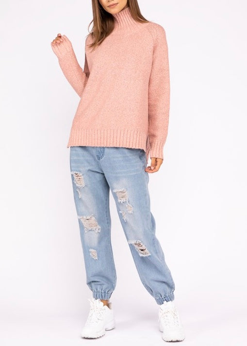 JOEY MOCK NECK SWEATER