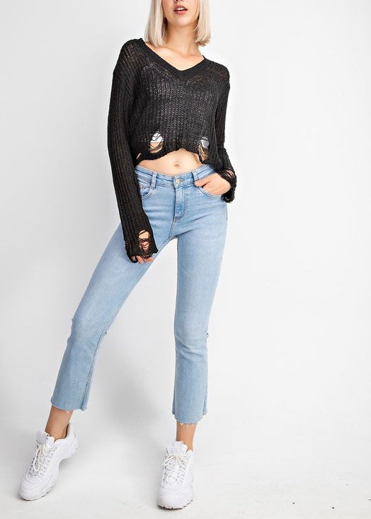 KELLIE KNIT SWEATSHIRT