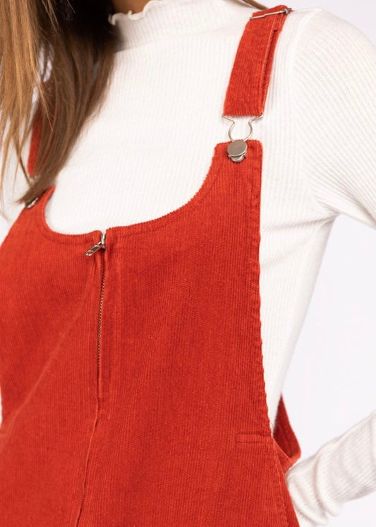 KAT CORDUROY OVERALL DRESS