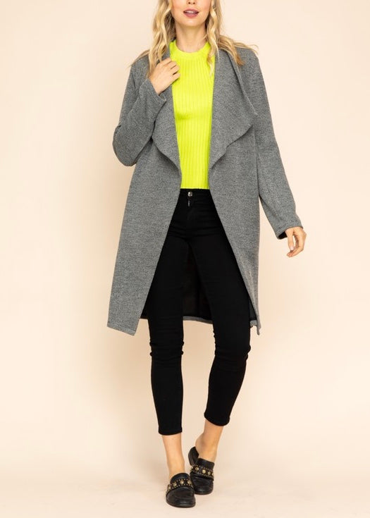 NICOLE TEXTURED KNIT CARDIGAN