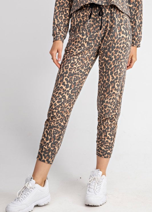 AVERY LEOPARD JOGGERS