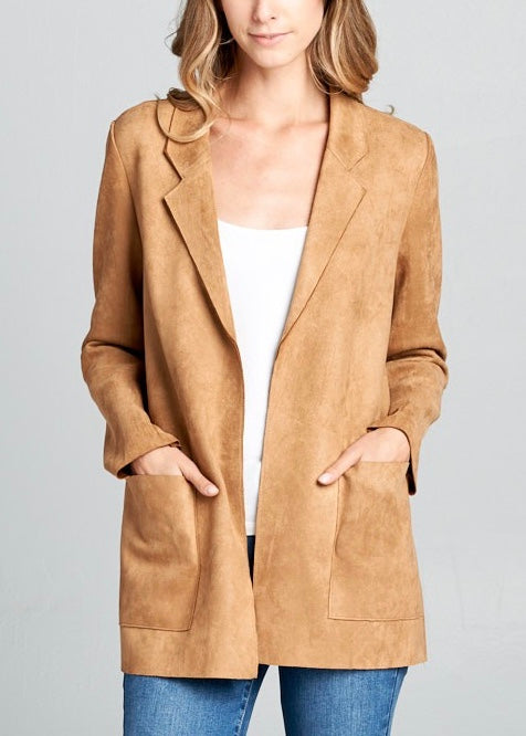 ZOE WORK SUEDE JACKET