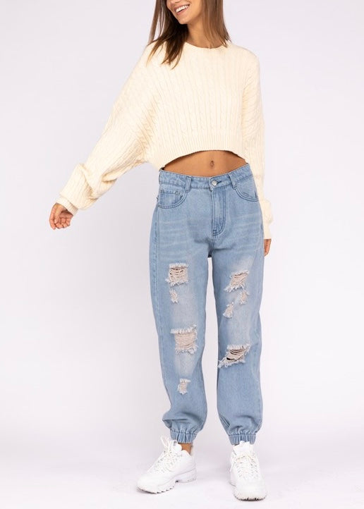 CLAIRE CROPPED SWEATER