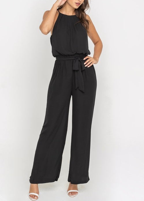 MIA WIDE LEG BELTED TUNIC JUMPSUIT