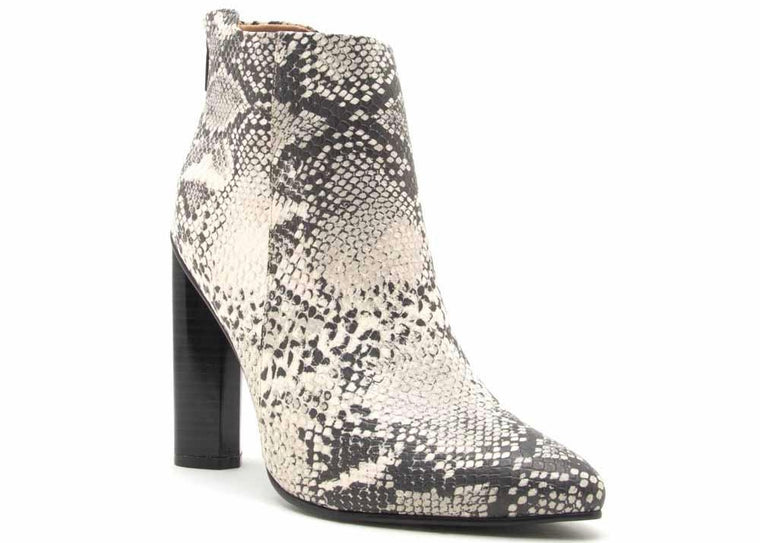STACEY STONE BLACK SNAKE BOOTIE