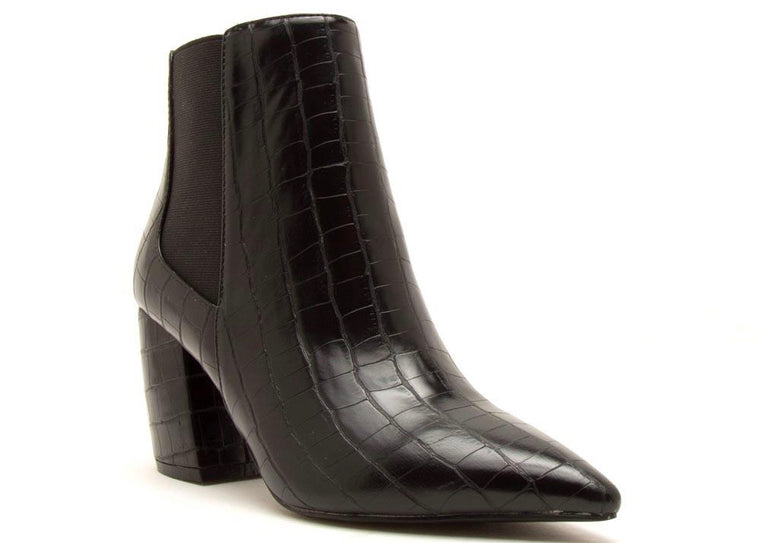 MANDY BLACK CROCODILE BOOTIE