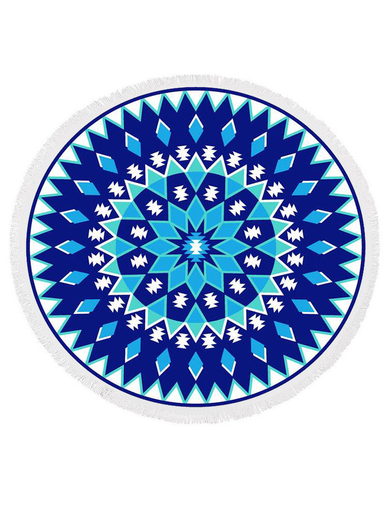GEO PATTERN ROUND BEACH TOWEL
