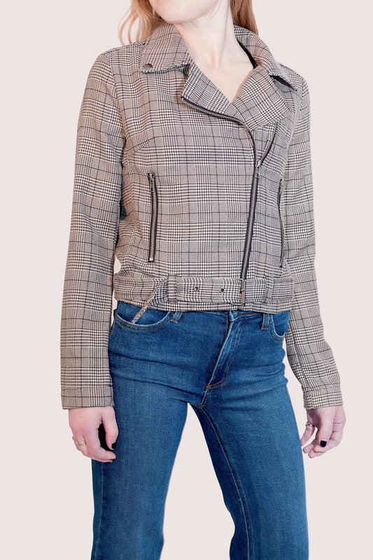 MARLEY PLAID MOTO JACKET