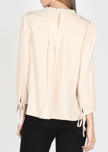 CHARLOTTE FRILL NECK TOP