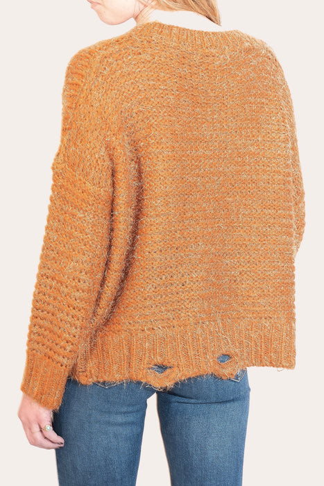 RORY BURNT ORANGE SWEATER TOP