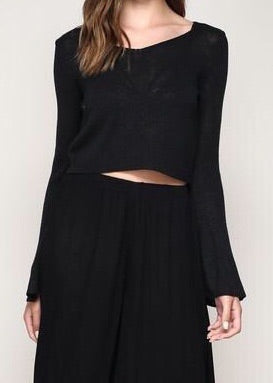 MEREDITH BELL SLEEVE SWEATER TOP
