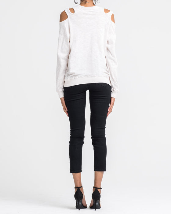 ARIA SHOULDER CUT L/S TOP