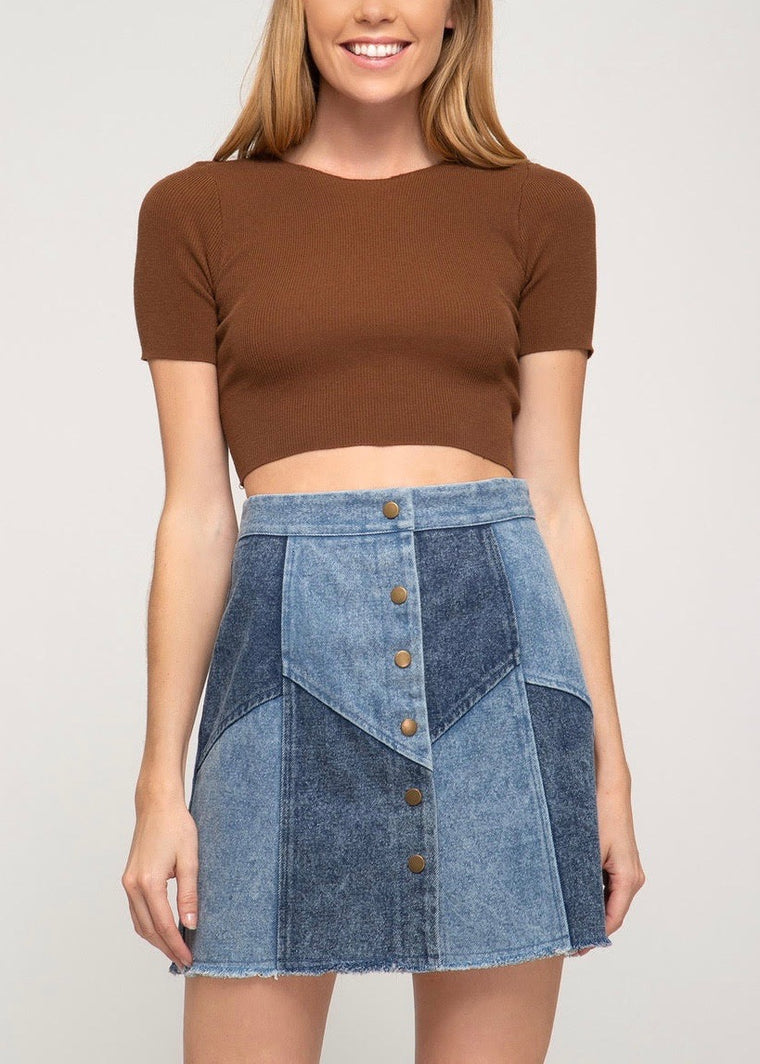DARIA DENIM SKIRT