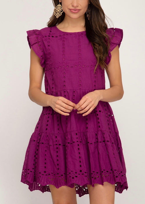 EYELET BABYDOLL DRESS