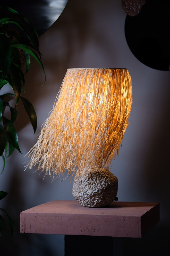 Pacific Lamp with Natural Raffia Shade
