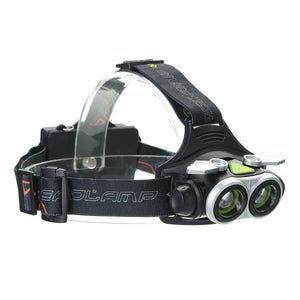 XANES 7305-A 1500 Lumens Bicycle Headlamp 4 Switch Modes T6 White Light Telescopic Zoom