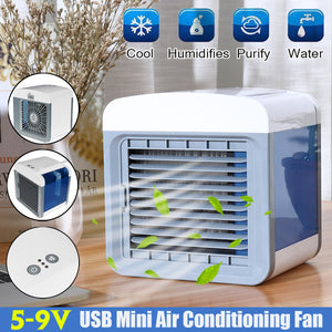 5-9V USB Mini Air Conditioning Fan Humidifier Home Cleaner