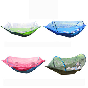 260x150cm Outdoor Double Hammock Hanging Swing Bed With Mosquito Net Camping Hiking