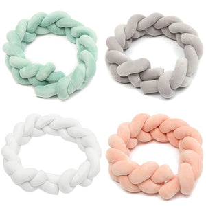 Baby Bumper Safety Pillow Cushion Braid Pad Protector