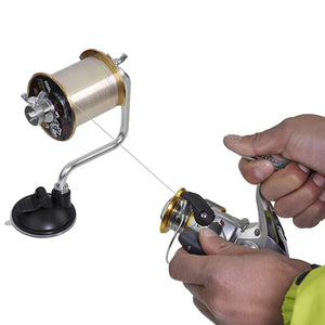 ZANLURE 12cm x 15cm Portable Aluminum Fishing Line Winder Reel Spool Spooler System Tackle Tool Suction Cup