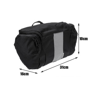 BIKIGHT 3L Frame Bag Bike Bicycle Case Pannier Luggage Pouch Portable Reflective Headpack