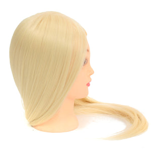 Professional Long Hairdressing Mannequin Training Practice Head Salon + Clamp